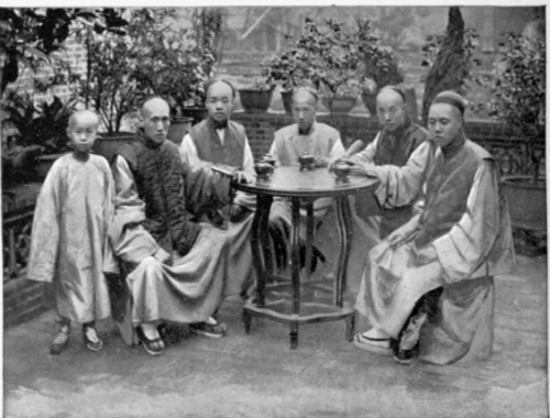 Chinese-Merchants-Drinking-Tea